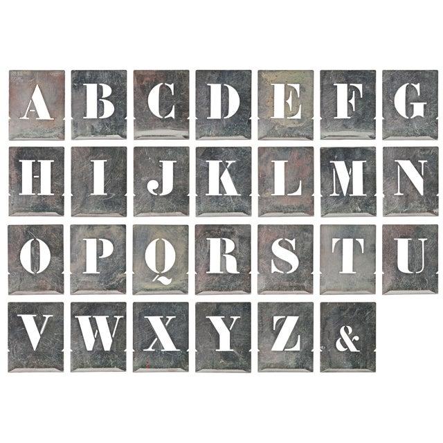 Image of Vintage French Zinc Alphabet Stencils
