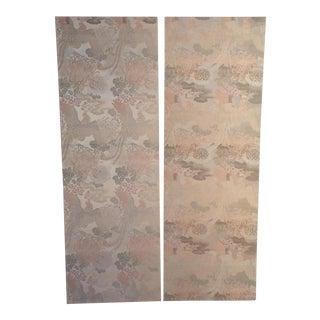 Antique Japanese Textile Panels - A Pair