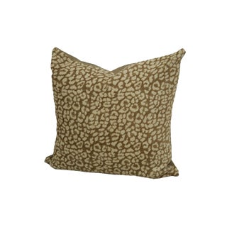 Chenille Leopard Spot Throw Pillow
