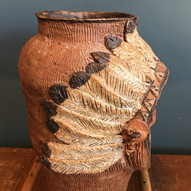 Indian Head Ceramic Vase - Image 6 of 9