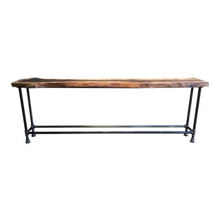 Black Walnut Live Edge Entry Table