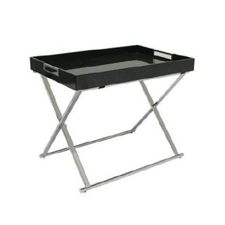 Black Lacquered Top Tray Table