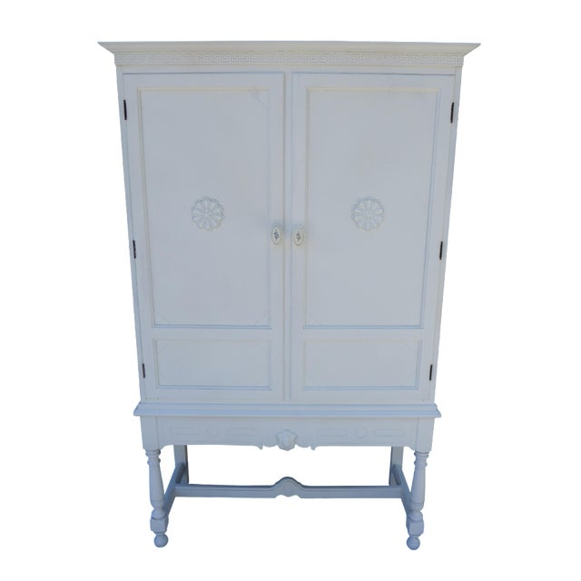 Antique White Painted Cabinet - Image 1 of 8