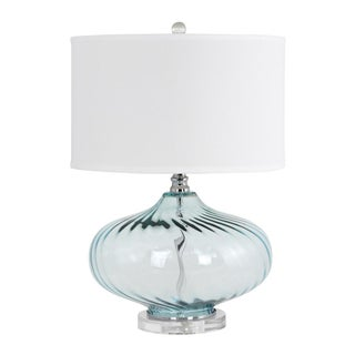 Kamille Blue Glass Table Lamp