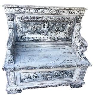 Vintage Victorian Gothic Bench