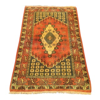 Vintage Turkish Anatolian Area Rug- 2′8″ × 4′5″