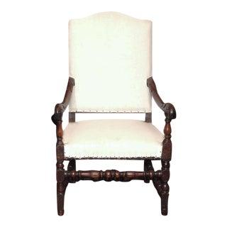 Louis XIV High Back Armchair