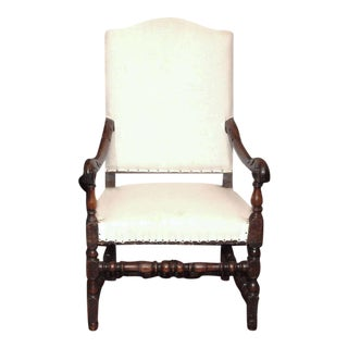 Louis XIV High Back Armchair