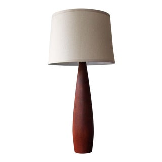 Mid-Century Modern Scandinavian Teak Table Lamp