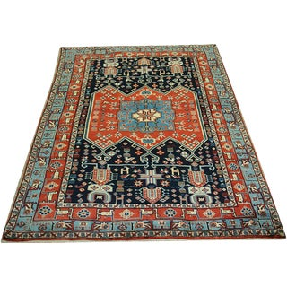 "Primitive & Tribal Persian Ghochan Rug, 4' x 5-9"""