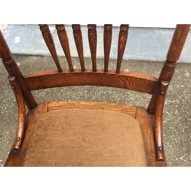 Antique Pressed Oak Spindle Back Chairs Set Of 6 Chairish