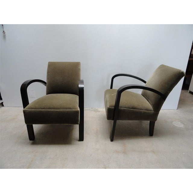 Image of Art Deco Mohair Armchairs - A Pair