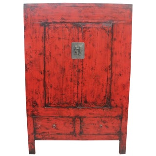 Large ShanXi Red Lacquer Cabinet
