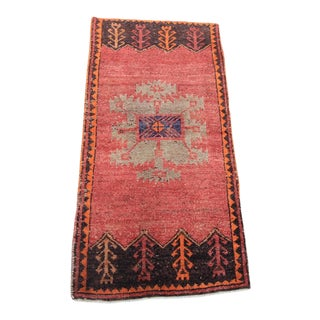 "Vintage Turkish Oushak Tribal Rug- 1'8"" x 3'4"""