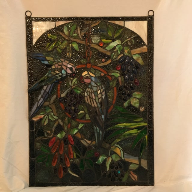 Tiffany Style Stained Glass Plaque - Image 2 of 7