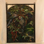 Image of Tiffany Style Stained Glass Plaque