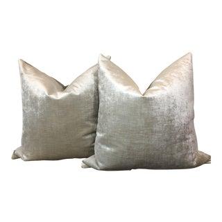Zinc Velvet Pillows - a Pair