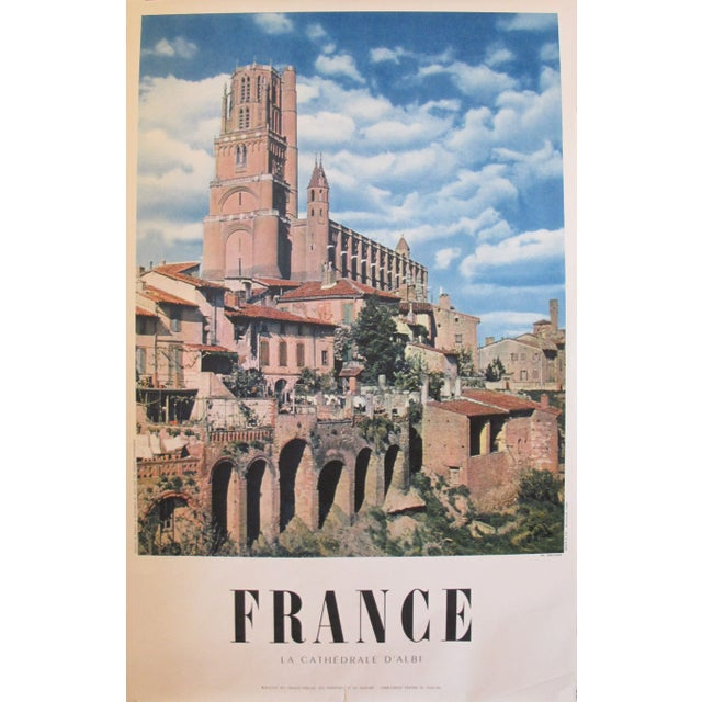 1950s Vintage French Travel Poster, Albi Cathedral - Image 1 of 2