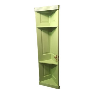 Repurposed Door Shelf in Spring Green