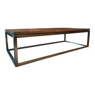 Wood & Iron Rectangular Coffee Table