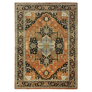 Indian Heriz Serapi Design Rug - 6′ × 8′9″