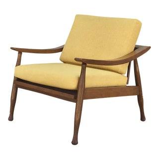 Mid-Century Walnut Lounge Chair