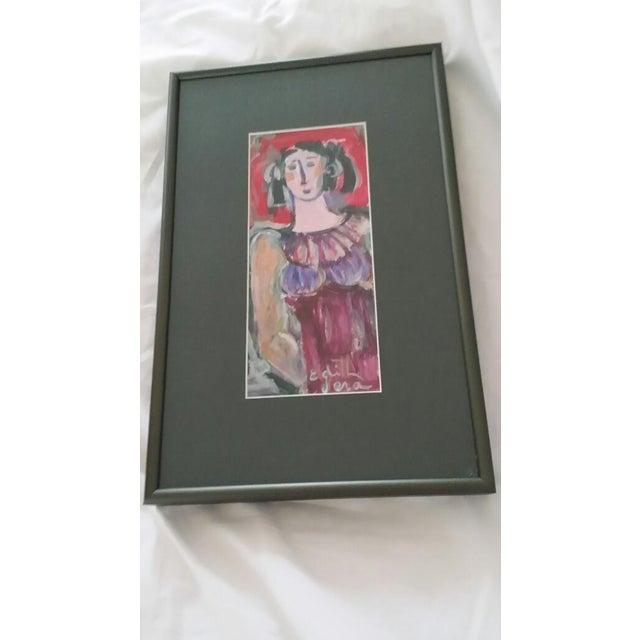 Image of Edith Vera Self Portrait Painting