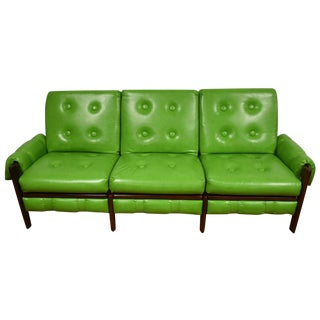Percival Lafer-Style Green Sofa