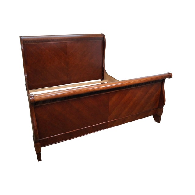 Quality Cherry King Size Traditional Sleigh Bed - Image 1 of 10