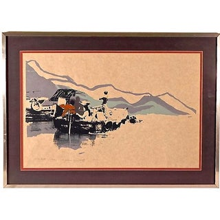 """""""Slow Boat"""" Lithograph"""