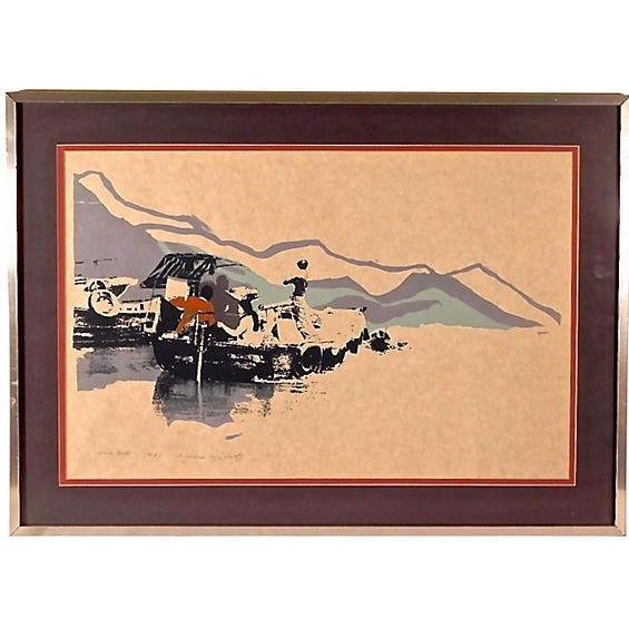 """Slow Boat"" Lithograph - Image 1 of 3"
