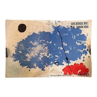 """Vintage 1961 Joan Miró """"Derriere Le Miroir"""" Poster"""