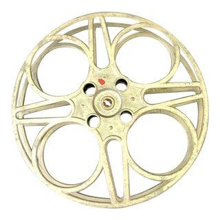 Vintage Galvanized Metal Movie Reel