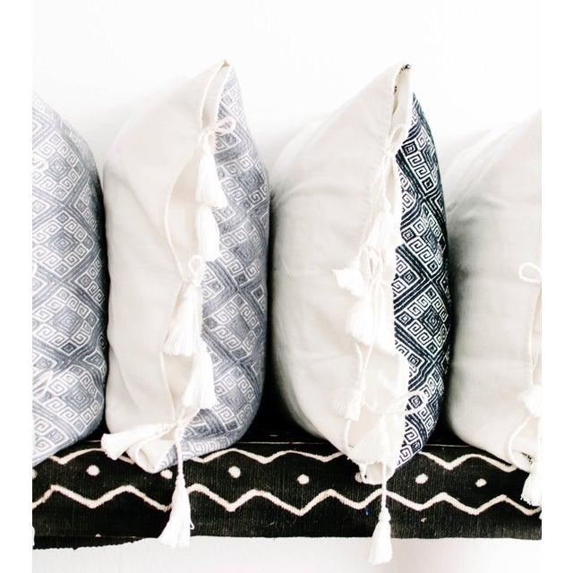 Black Diamonds Handwoven Pillow - Image 5 of 6