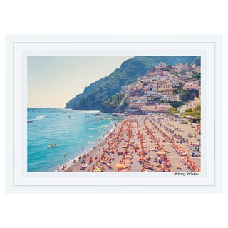"""Gray Malin Large """"Positano Beach"""" Framed Limited Edition Signed Print"""