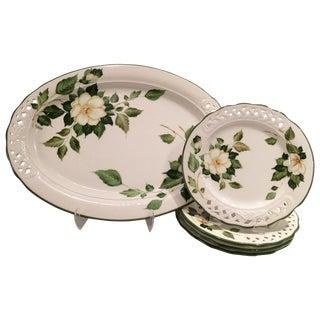 Italian Hand Painted Brunelli Platter & Plate - 5