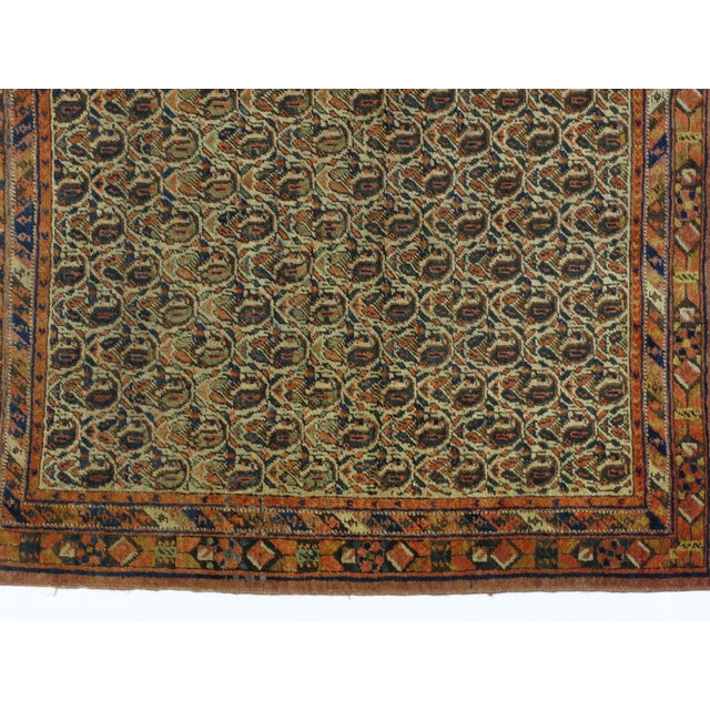Antique Persian Afshar Carpet - 4' x 4'11'' - Image 4 of 4