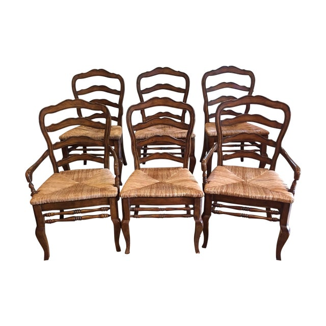 Hooker Furniture Ladder Back Chairs - Set of 6 - Image 1 of 11