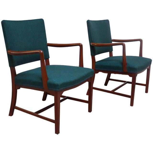 Pair of Danish Modern Teak Armchairs after Kaare Klint - Image 3 of 10
