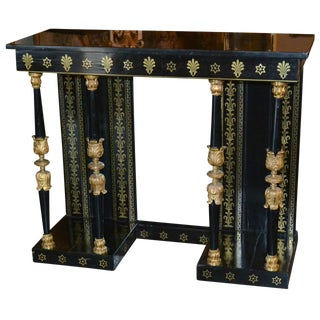 19th Century Regency Ebonized Console