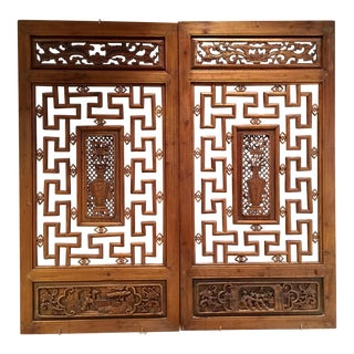 Antique Chinese Screens - A Pair