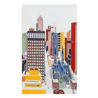 Mori Shizume - New York Skyline 5 Silkscreen