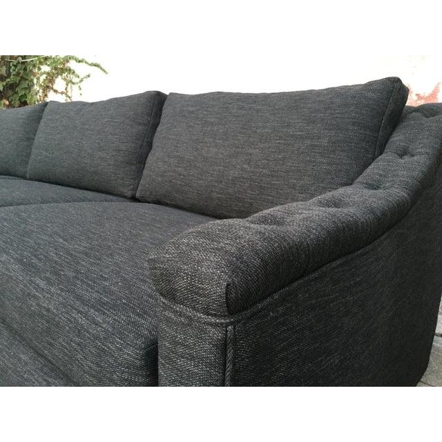 Black Mid Century Modern Sofas: Vintage Mid-Century Modern Black Tweed Sofa