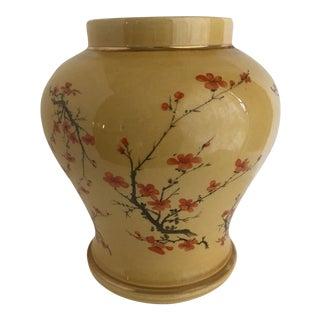 Asian Chinoiserie Cherry Blossom Vase