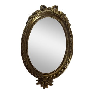 Home Interiors Gold Oval Mirror