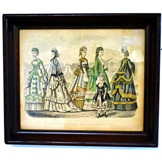 Antique 1870 Godey's Fashion Print