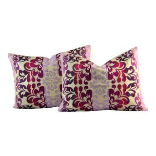 Kim Seybert Embroidered Throw Pillows - A Pair