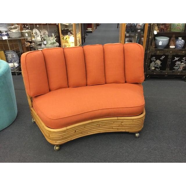 Paul Frankl Sofa ~ Paul frankl vintage rattan sofa chairish