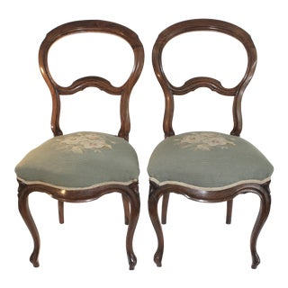 Antique Balloon Back Chairs- A Pair