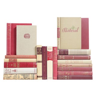 Mid-Century Wine & Wheat Books - Set of 20